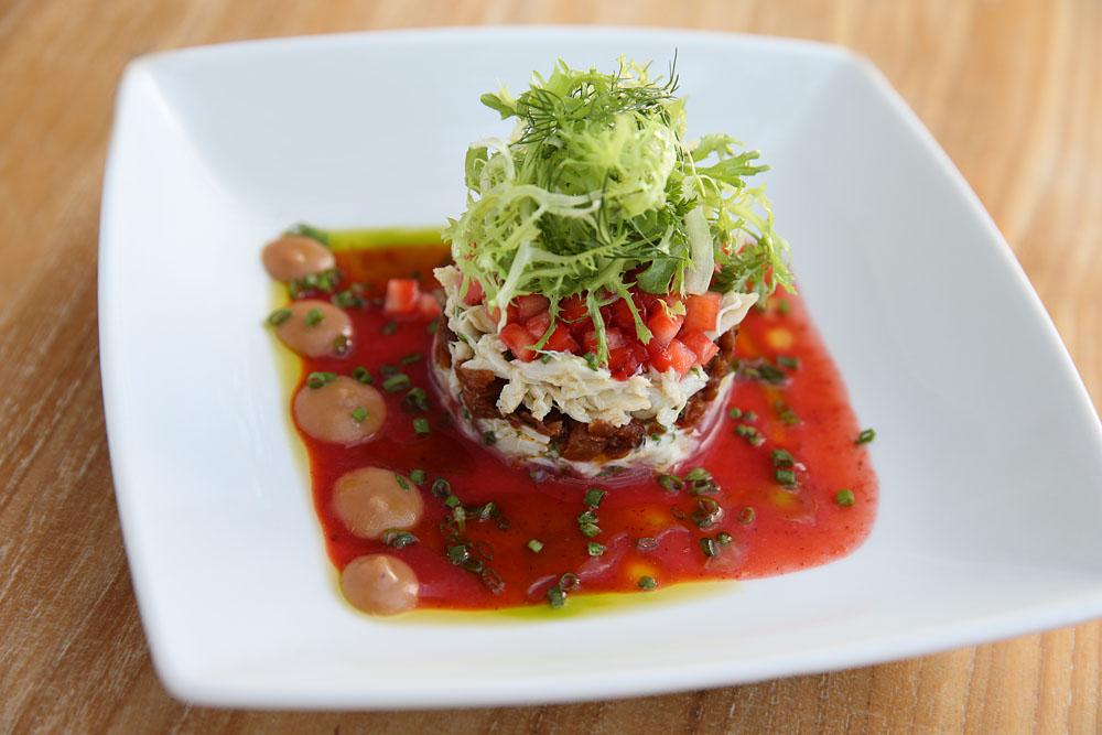 The strawberry crab salad at Gado Gado restaurant.