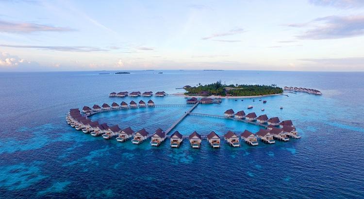 An aerial view of Centara Grand Island Resort & Spa.