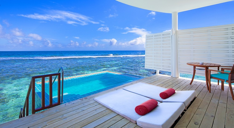 Over water villas at Centara Grand Island Resort & Spa come with a pool and direct access to the sea.