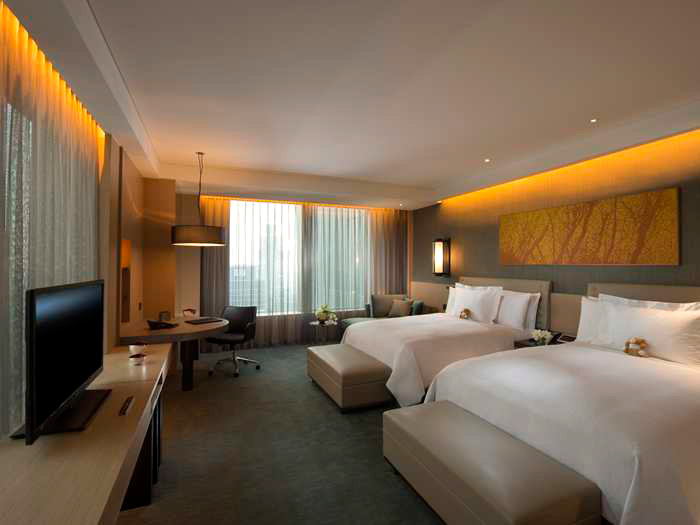 The guestrooms at the Conrad Seoul are kitted out with state-of-the-art technology.