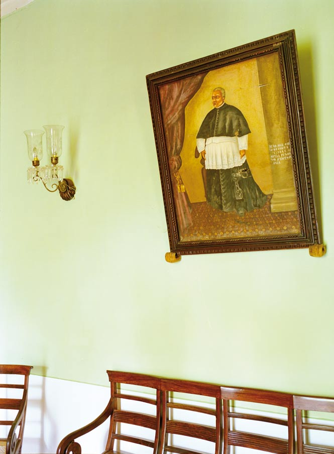 At the Palácio do Deão, a portrait of the estate's 18th-century founder.