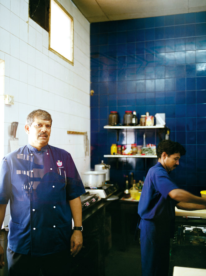 Angola-born chef Vasco Silviera in the kitchen of his Horse Shoe restaurant.