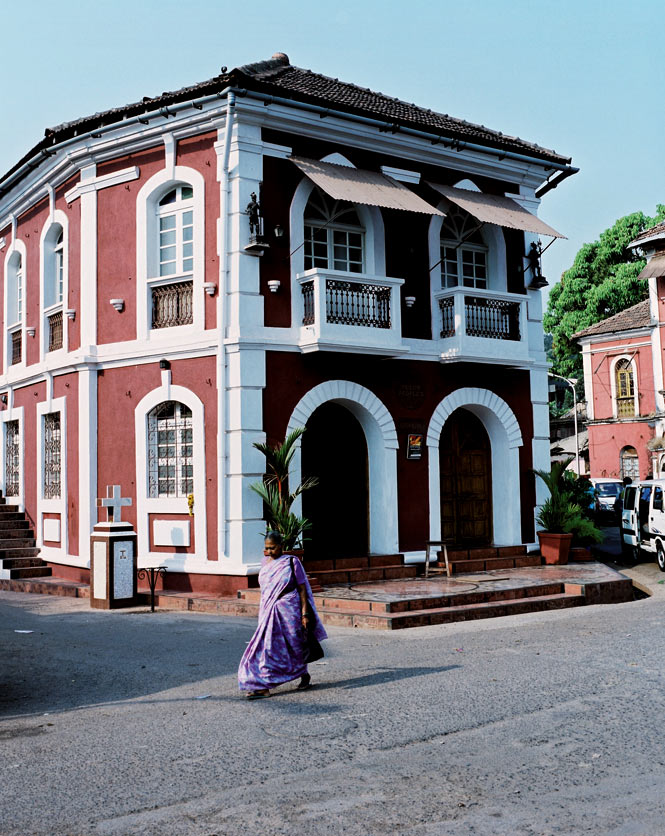 Schoolhouse-turned-hotel Panjim Peoples.