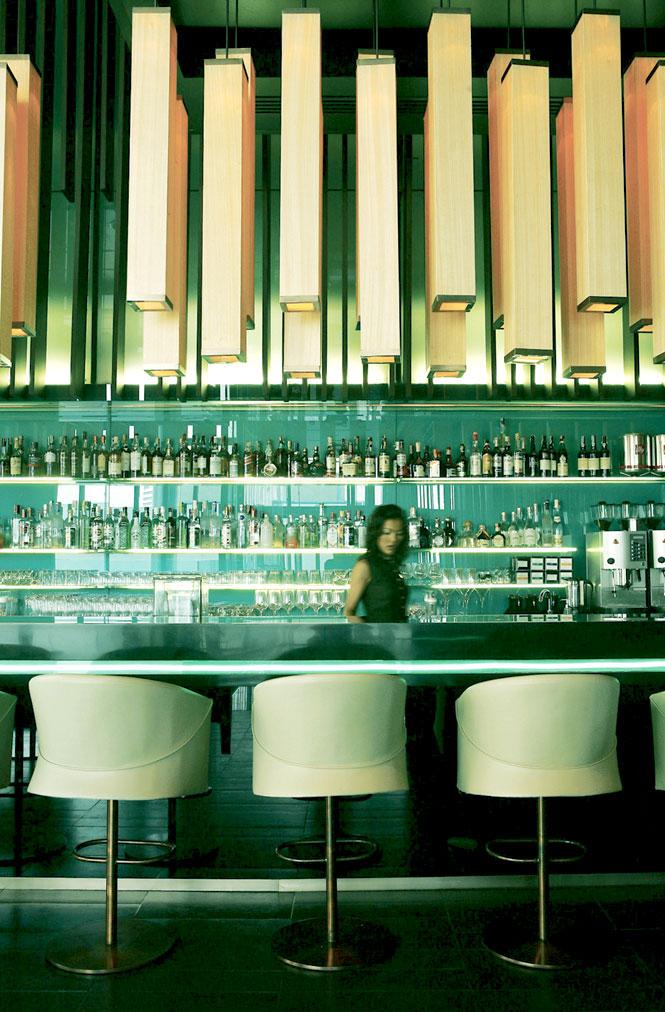 The bar at Bamboo Chic.