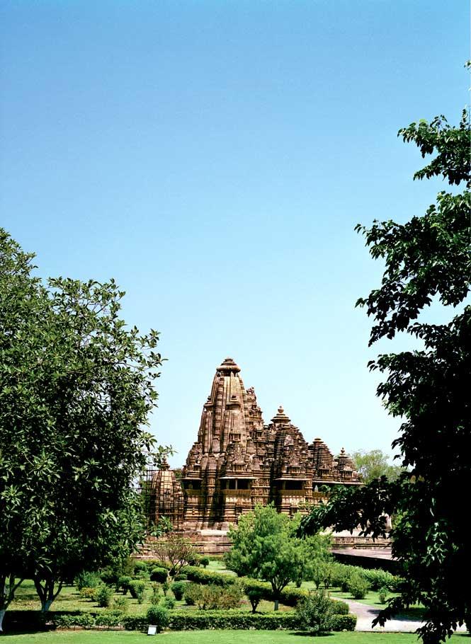The temple complex at Khajuraho.