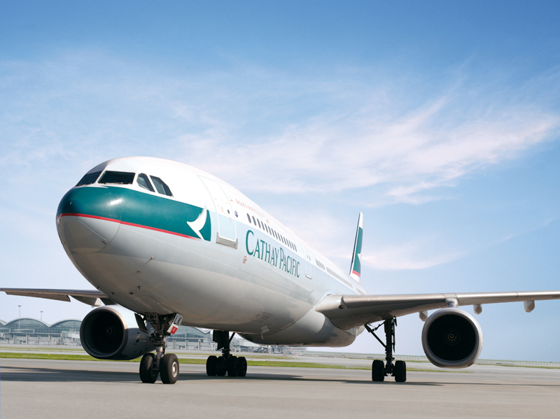 The airline's Airbus A330-300 services the route.