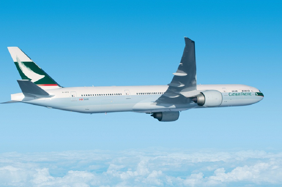 Cathay Pacific's Boeing 777-300ER aircraft.
