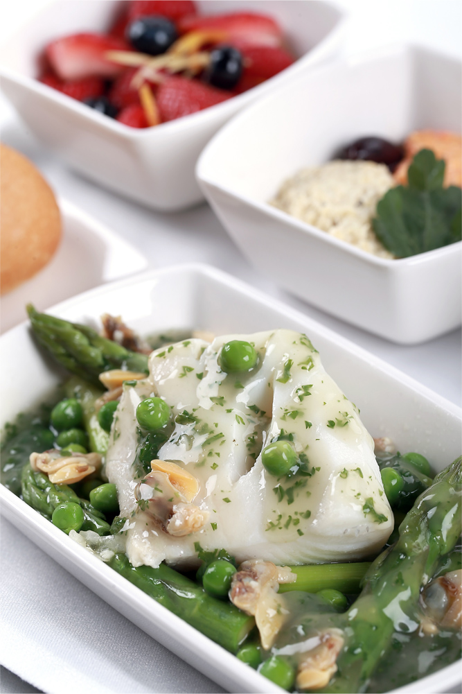 Braised Basque-style cod with clams in salsa verde