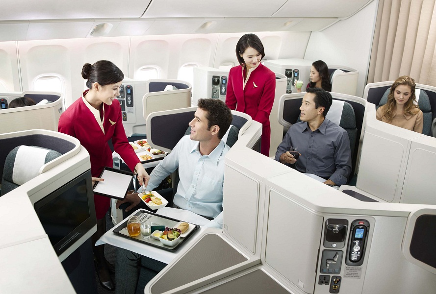 The airline's award-winning business class.