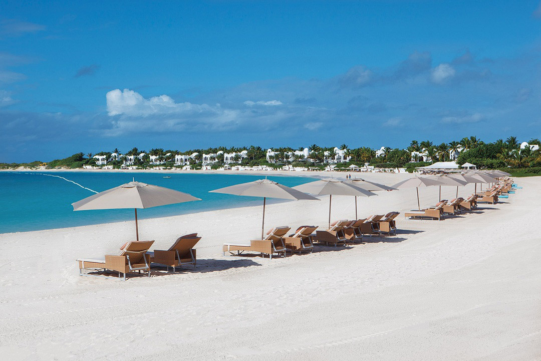 The beach at Anguilla's Moroccan-inspired Cap Juluca.