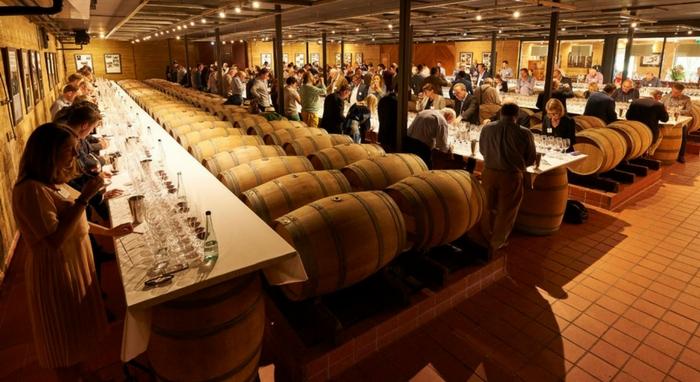 Inside Cape Mentelle's wine tasting.