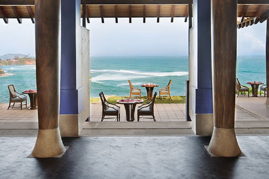A dining pavilion at Cape Weligama.