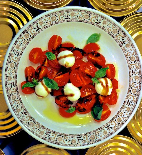 The Caprese salad.