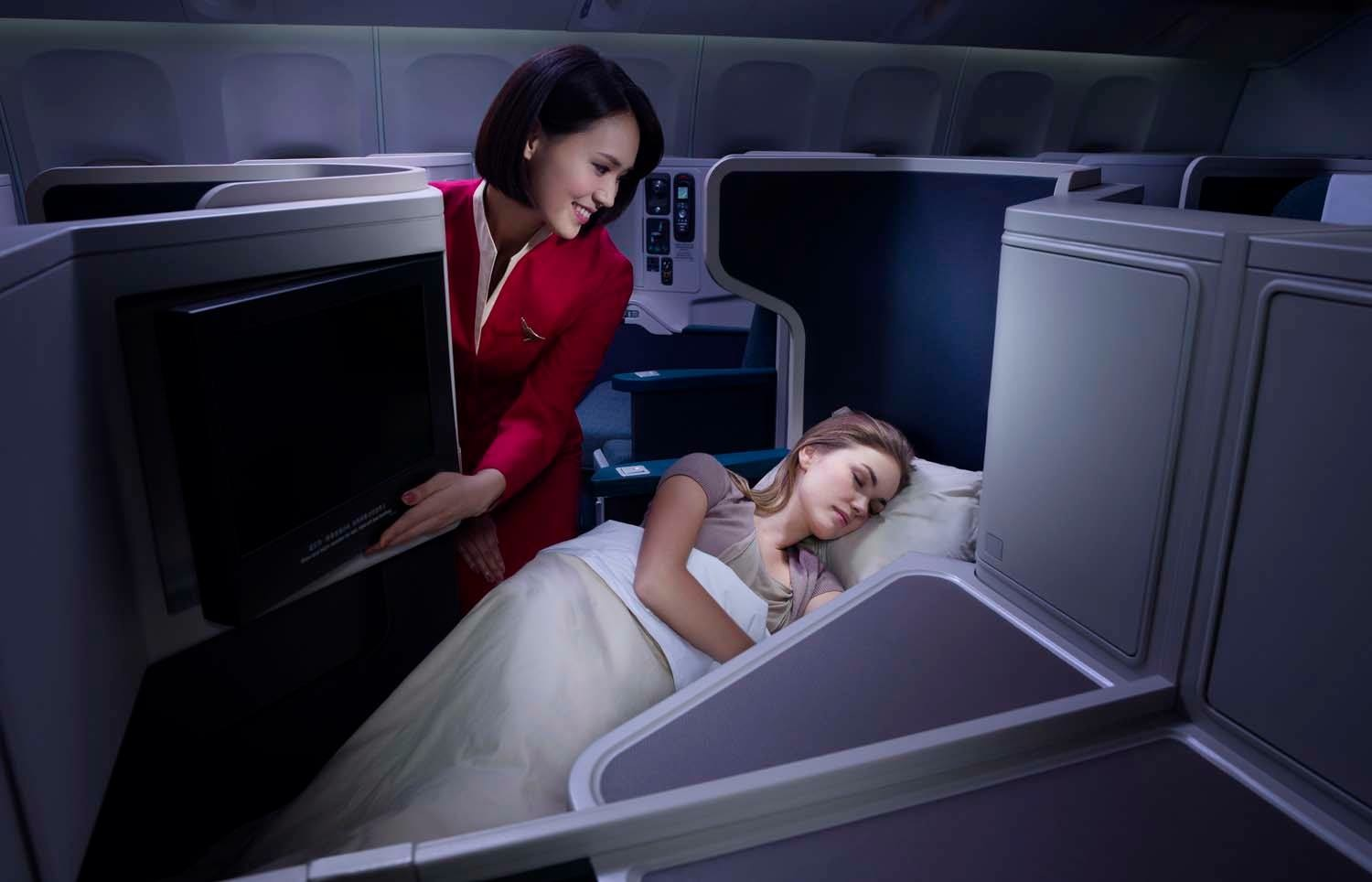 The non-stop Manchester service will feature business class seating.