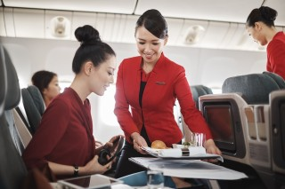 Inflight service maintains Dragon's Chinese cuisine.