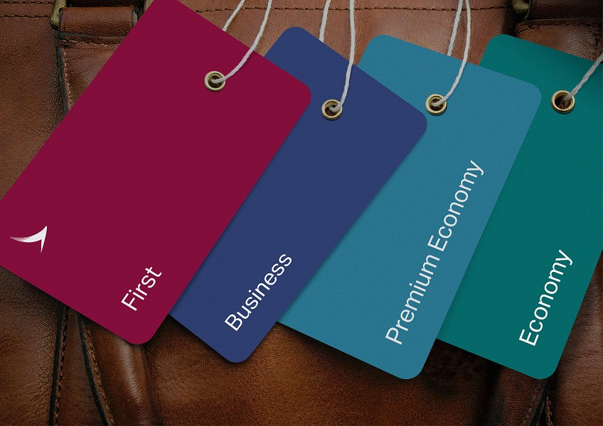 Color-coded classes will help streamline check-in and boarding processes.