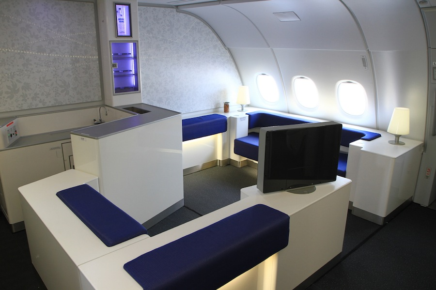 The Celestial Bar is available to premium class passengers.