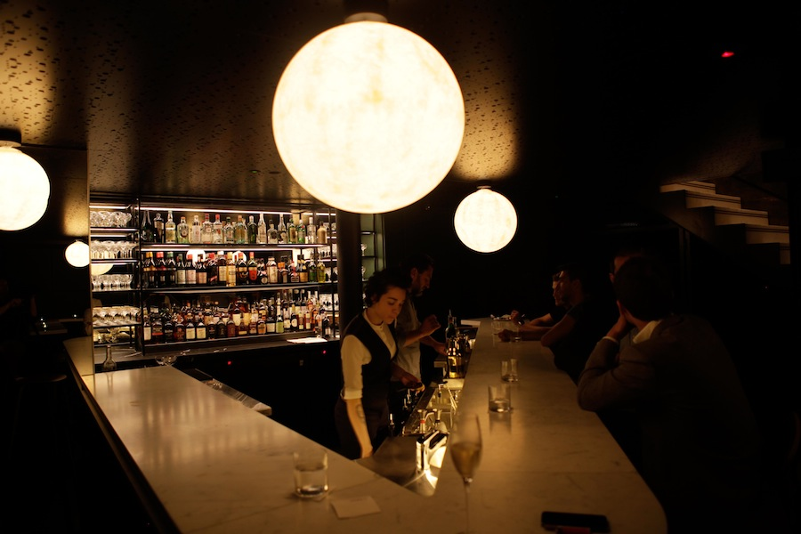 The bar, One Two Two, serves French-inspired drinks.
