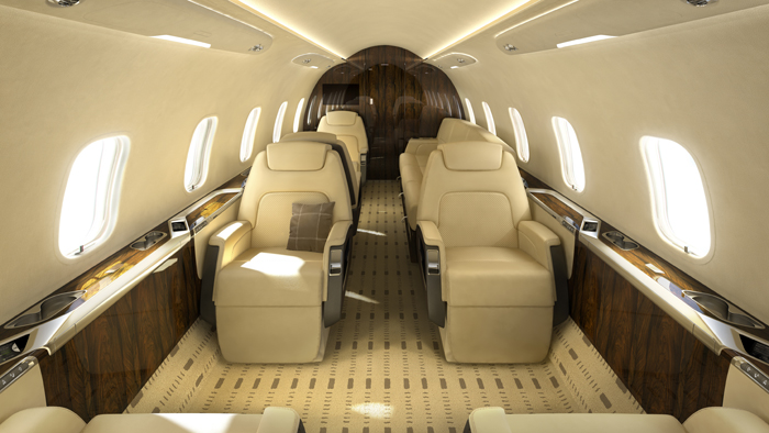The Challenger 350's interior screams luxury.