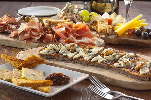 A tasting platter from Champagne + Fromage.