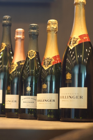 Bollinger Champagne will be paired with the meal.