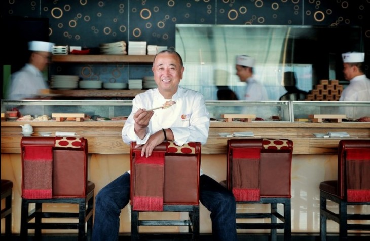 Chef Nobu Matsuhisa at Nobu InterContinental Hong Kong.