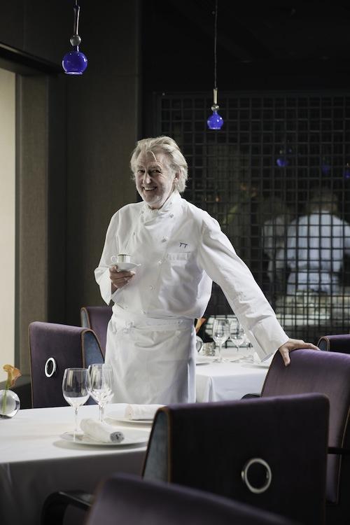 Chef Pierre Gagnaire in his namesake restaurant at the Mandarin Oriental, Hong Kong.