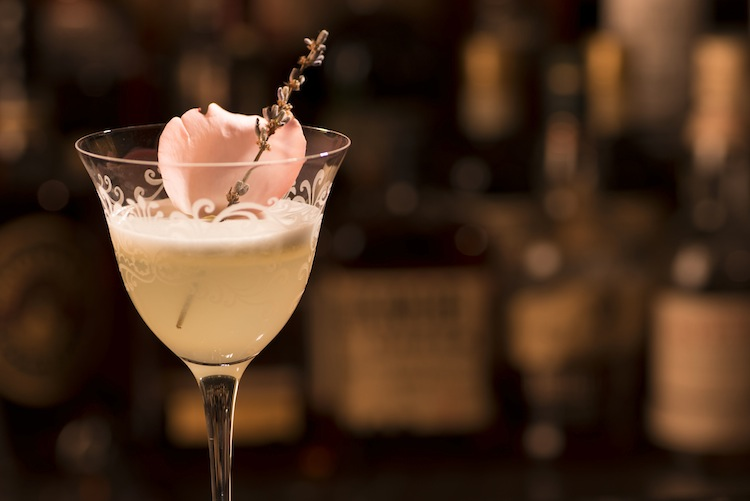 The Chelsea Flower Show cocktail recalls a recipe from the original Artesian bar in London, with hints of flowers.