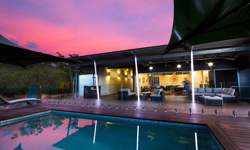 Enjoy the sunset with canapés and cocktails at Cicada Lodge.