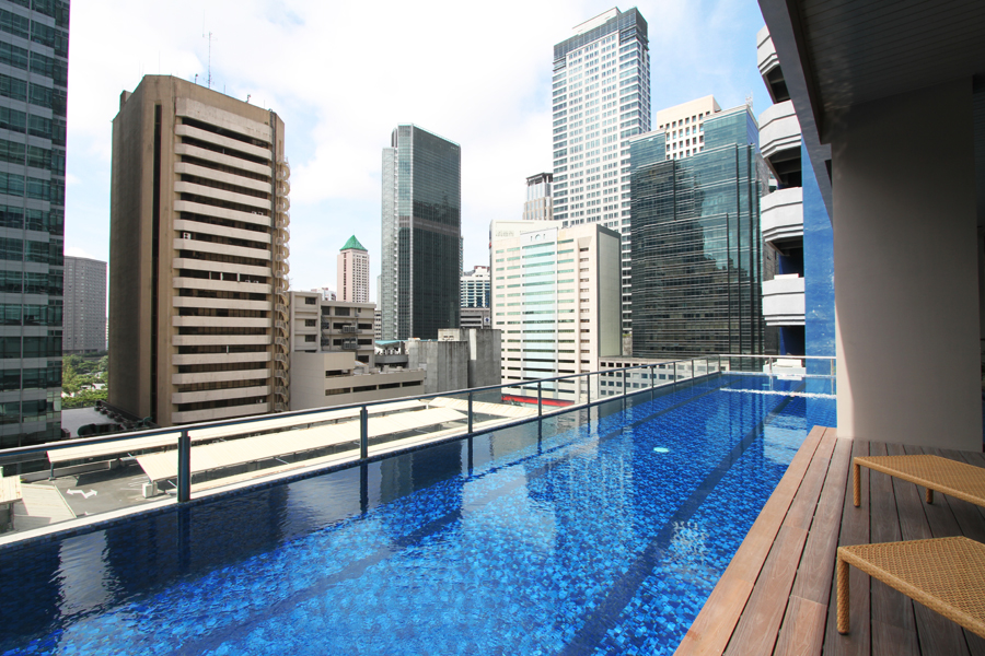 Take in views from the elevated pool deck.