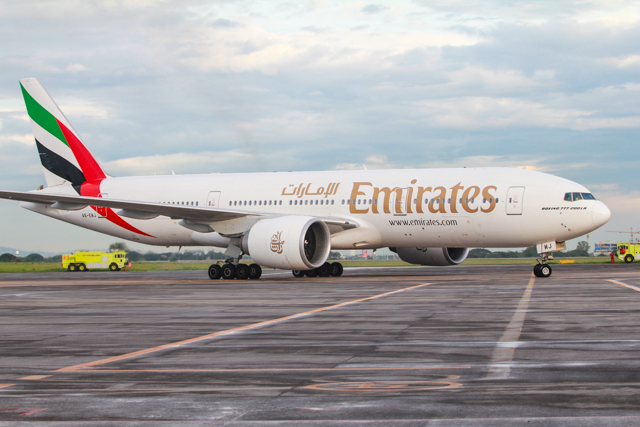 Emirates' arrives at Clark International, the airline's second gateway into the Philippines after Manila.