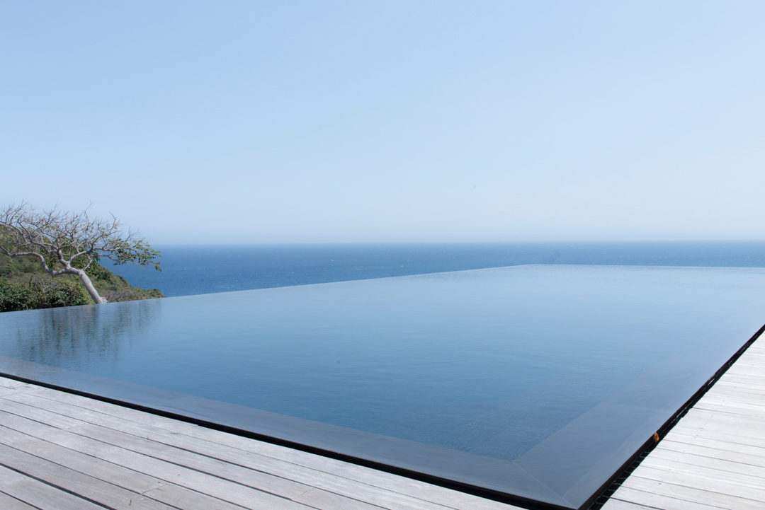 The view from the infinity pool.