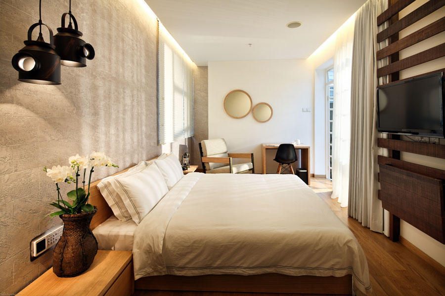 The 45-square-meter Hotel Clover Lavish Suite.