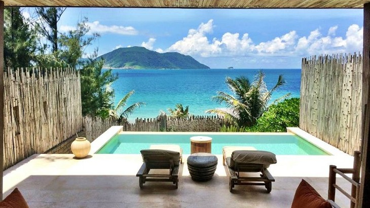 Six Senses Con Dao's villas are sited along a great curve of empty beach five kilometers east of Con Son town.
