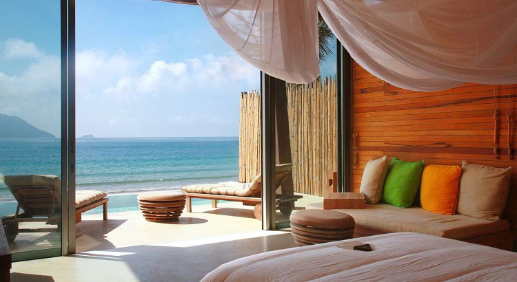 A view from one of Six Senses Con Dao's ocean front rooms.