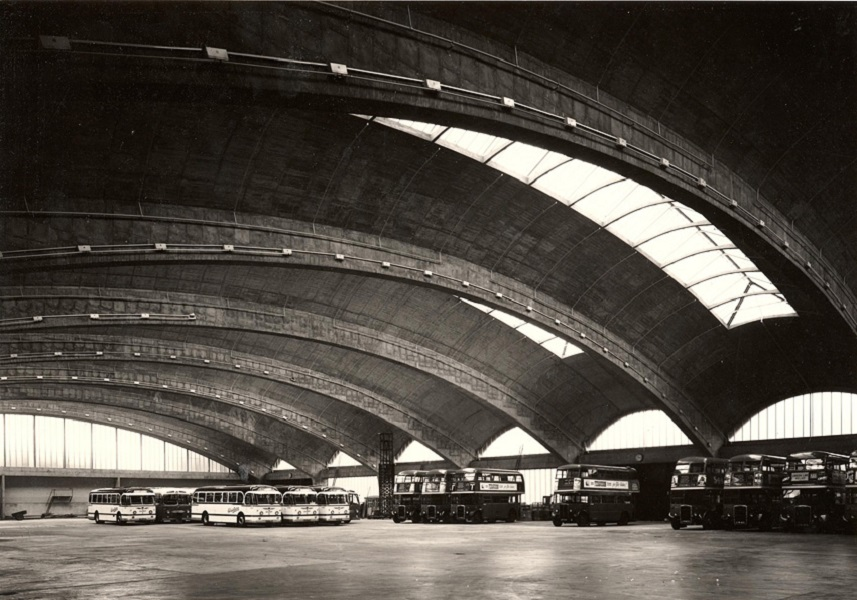 The Stockwell Bus Garage, made of concrete, is one of London's many architectural wonders.