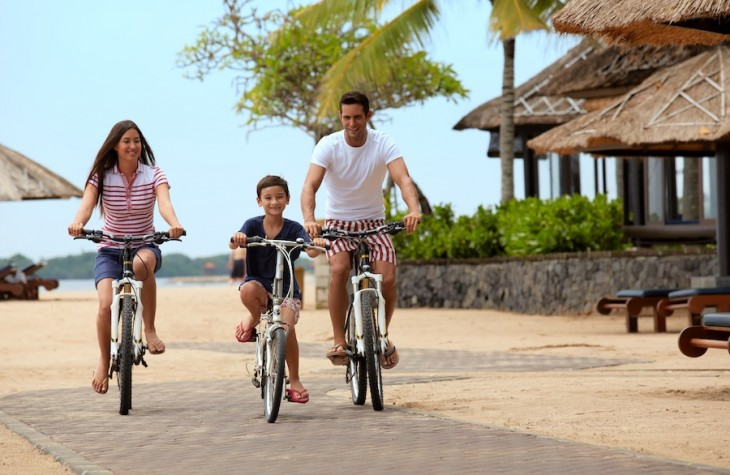 Grabbing some bikes from the resort is a perfect way to explore the scenic surrounds.
