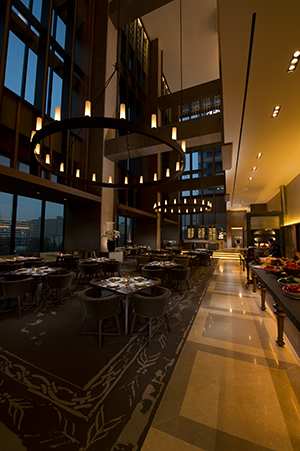 Atrio, the Italian restaurant, boasts a 28m high-ceiling serving reinventions of authentic Italian cuisine.