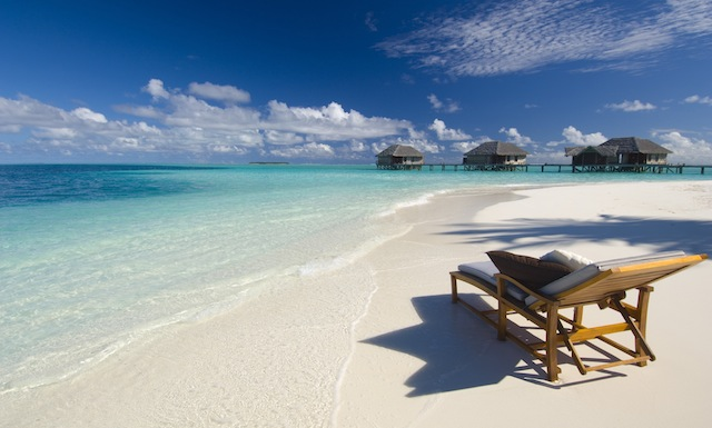 Spread across two private islands, Conrad Maldives Rangali Island is surrounded by turquoise waters.