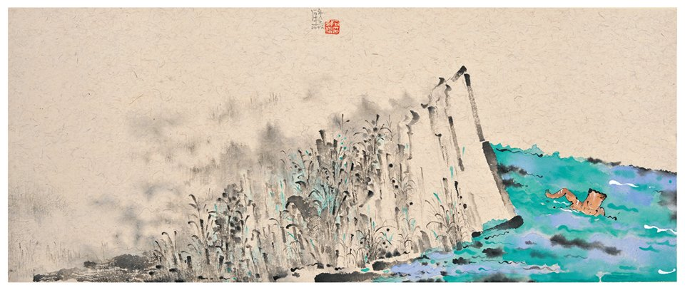 The work of Shi Jinsong, which will be on display at the Asia Contemporary Art Show.