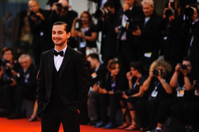 Actor Shia LaBeouf at the 69th Venice Film Festival in 2012, image by Corbis.