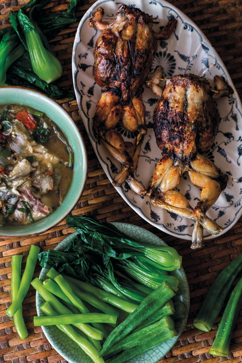 Frogs stuffed with pork and herbs at Doi Ka Noi.