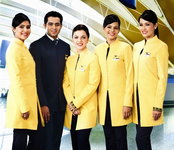 Jet Airways' crew.