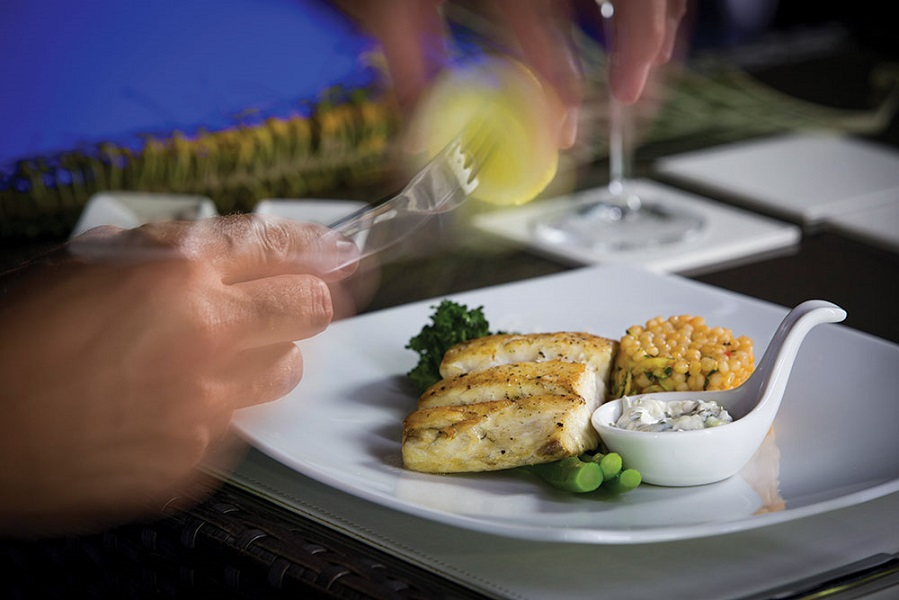Grilled barramundi features regularly on Julian's menu.