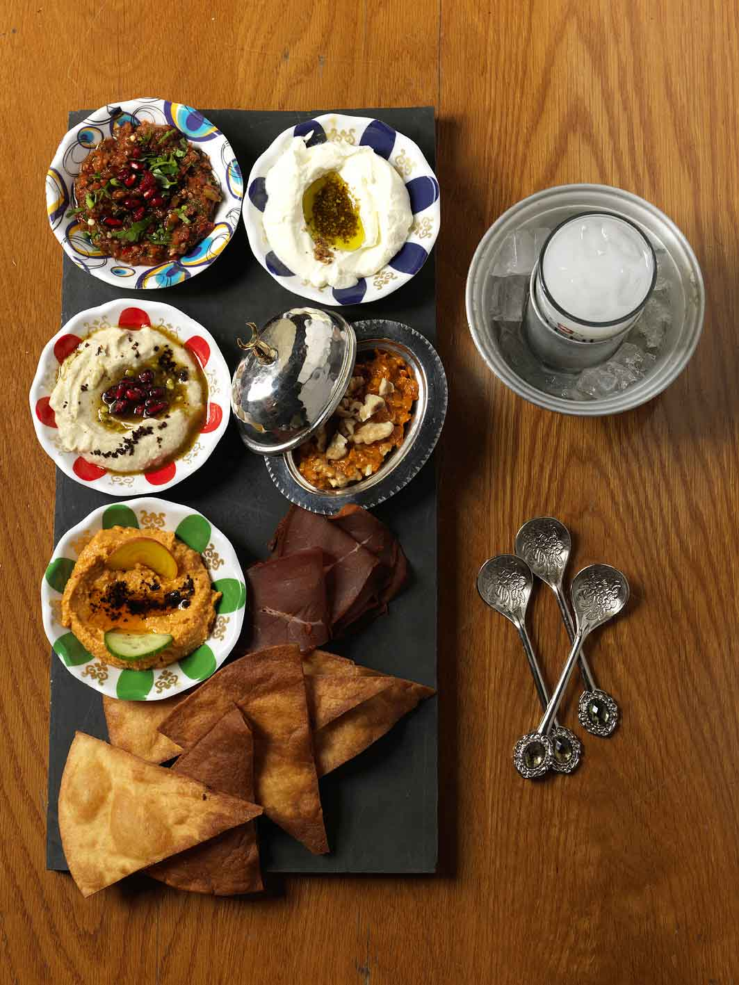 Efendy's meze platter reinvents classic turkish dishes.