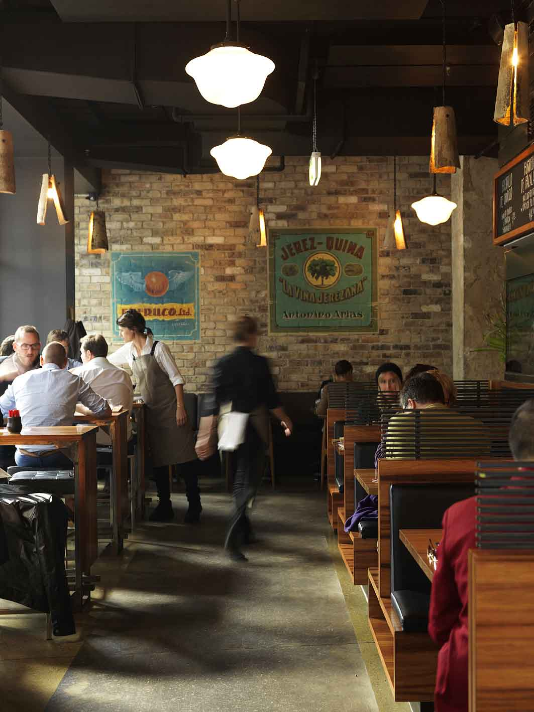 Lunchtime at Barcelona-born Frank Camorra's new tapas joint.