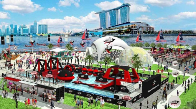 Paddles up for one of the biggest sports event in Singapore this year. Photo courtesy of DBS.