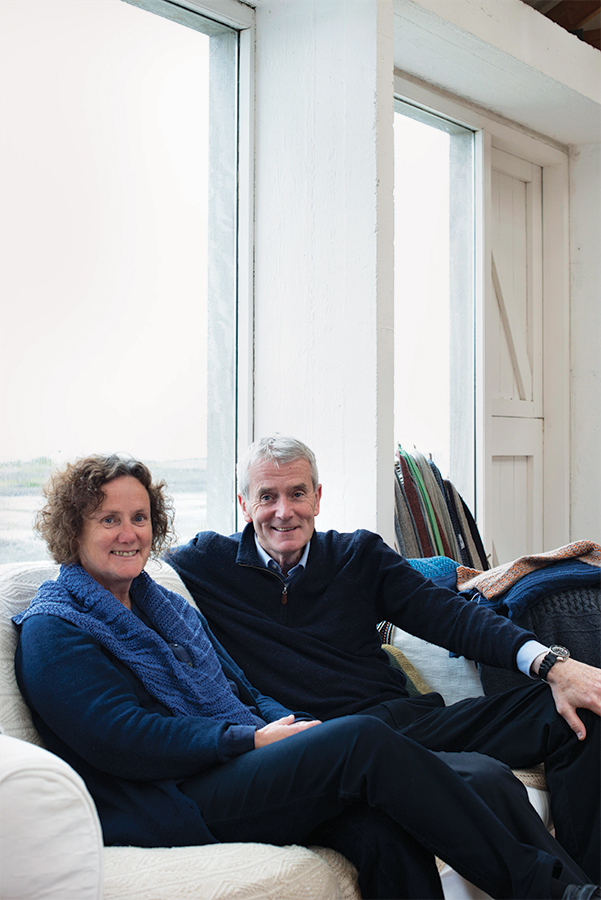 Tarlach and Aine de Blacam at their Inis Meain Knitting Company.