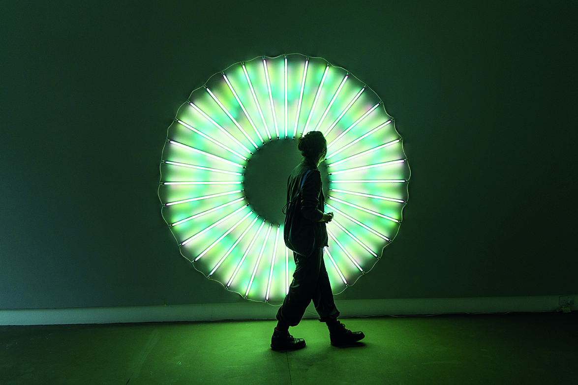 Iris, a recent installation at the Michael Janssen Gallery at Gillman Barracks.