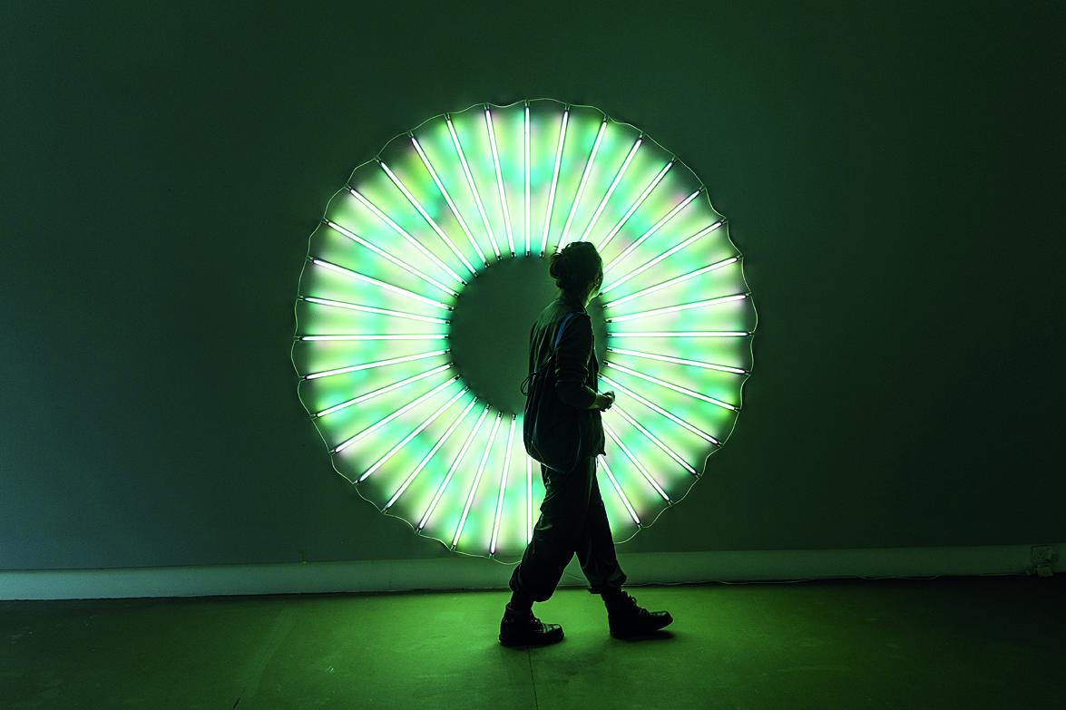 Iris, a recent installation at the Michael Janssen Gallery at Gillman Barracks.